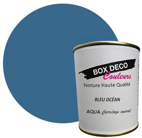 peinture bleu ocean carrelage