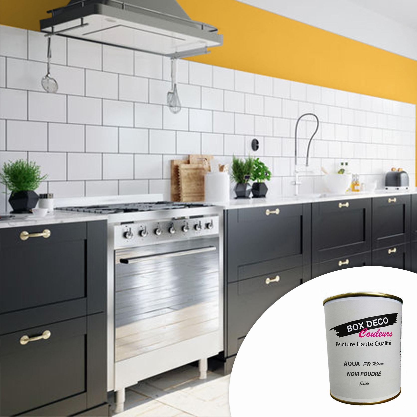 Peinture meuble de cuisine et salle de bain aspect satin