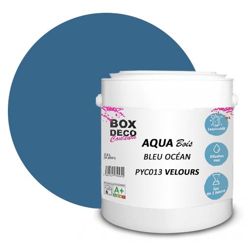 Peinture Aqua bois 2L BLEU OCEAN