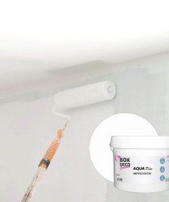 Peinture impression murale acrylique blanc aspect mat Aqua Déco - 10L / 90m²